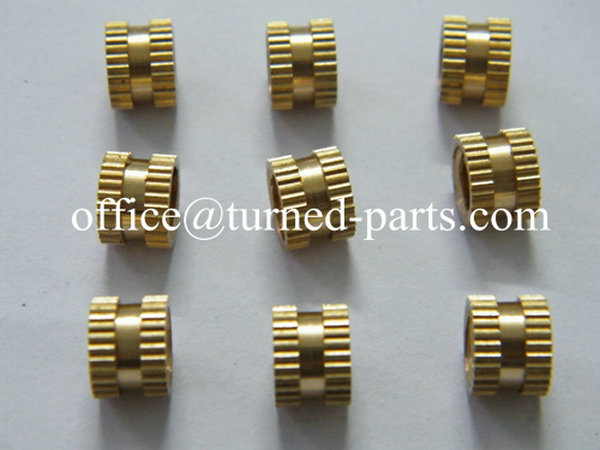 China precision custom double head straight knurled brass nuts manufacturer & exporter
