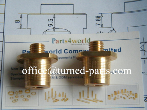 brass knurled & threaded CNC turning adapters manufacturer