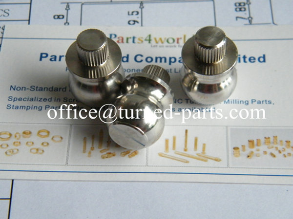 stainless steel straight knurled CNC turned parts manufacturer