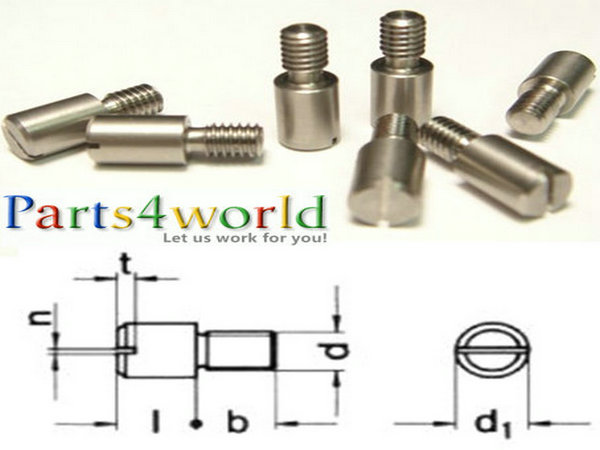 China precision 303 / 316 Stainless Steel custom DIN 927 Slotted Round Head Shoulder Screw Bolts M1-M22 China Exporter & manufacturer