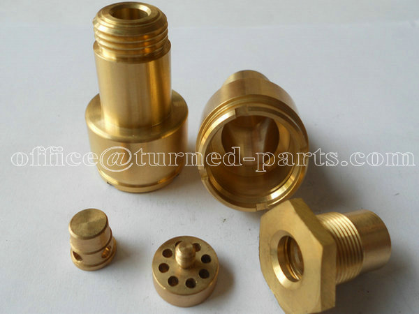 custom precision hex brass knurled & threaded CNC turning parts machining factory