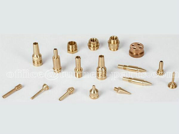 custom precision brass knurled & threaded small turned parts machining factory