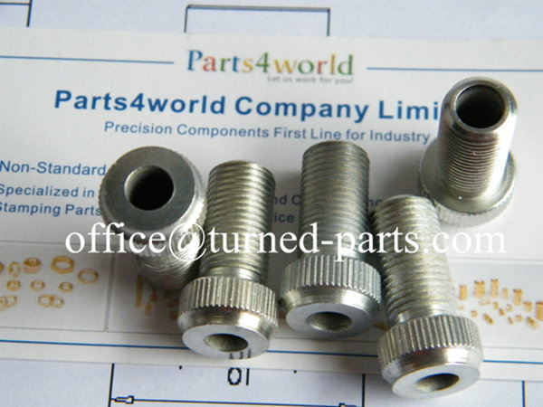 custom precision free machining steel zinc plating straight knurled bolts & threaded connectors machining factory